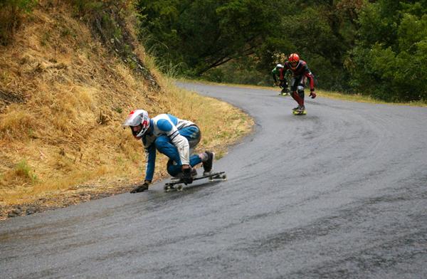 Casey Morrow racing on the Eastside Rain Wheels winning the Cali #5 NorCal Race on May 25th, 2008.