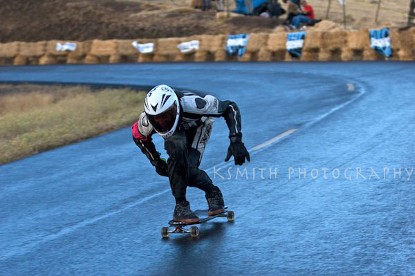 Alex Tongue racing on the Eastside Rain Wheels placing 10th at the Maryhill Festival of Speed 2009.