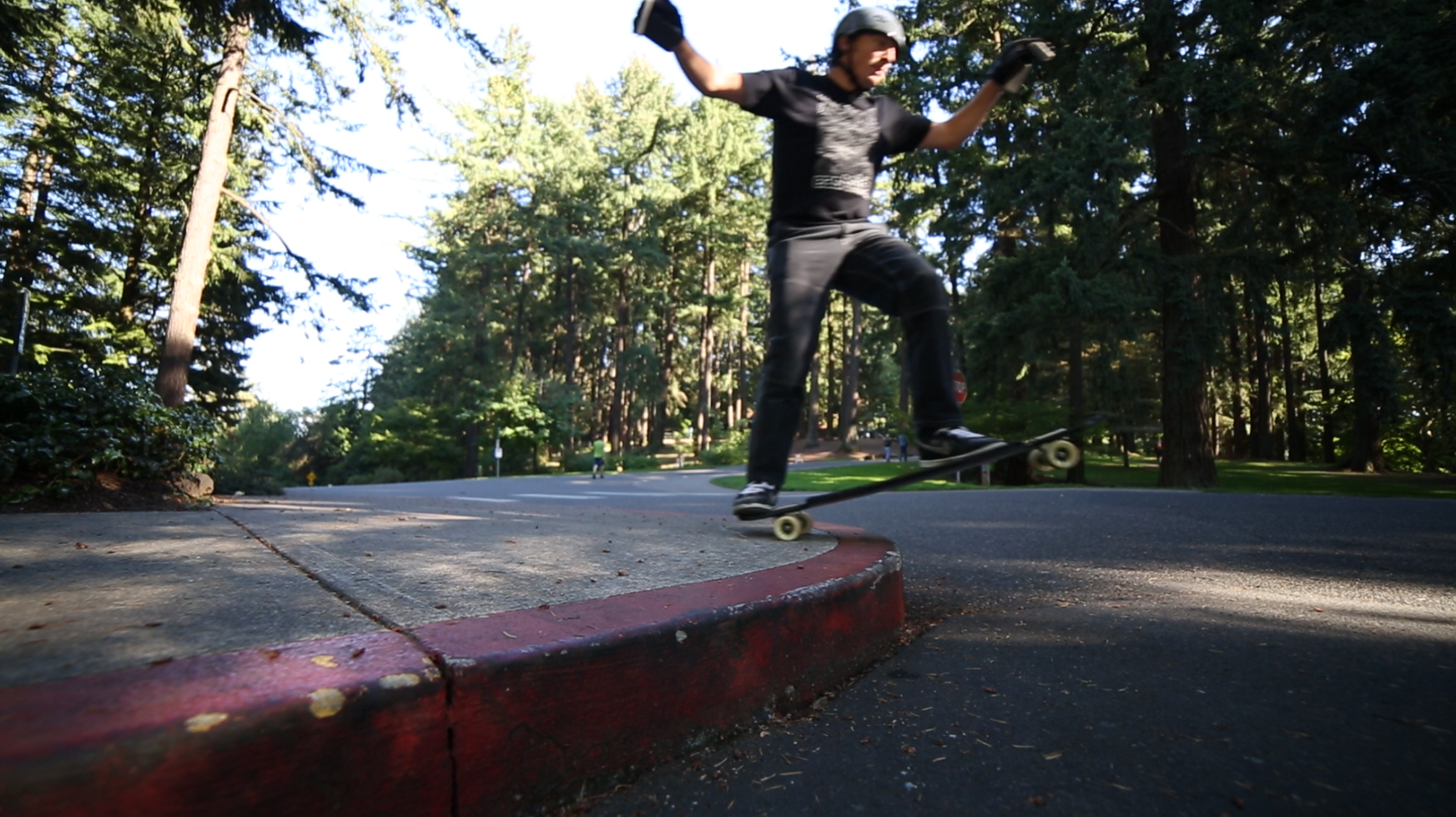 Riding off curbs with the kictail makes it more fun to drop down (and doesn't scrap the bottom of your board).